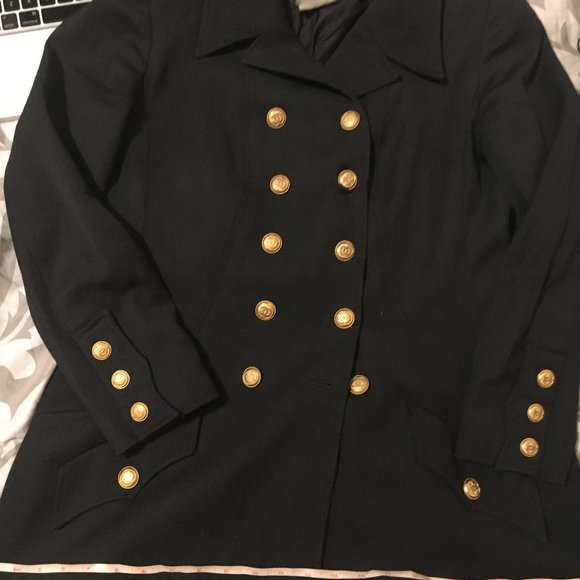 Last chance Chanel grey jacket classic cc gold